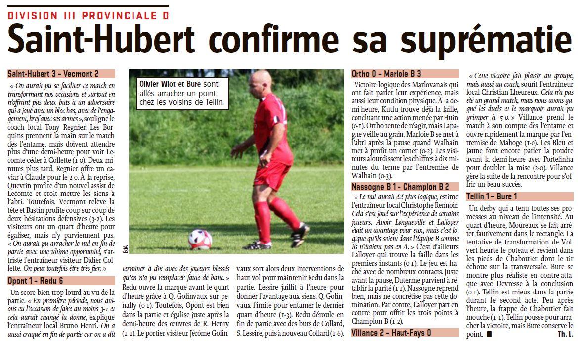L'Avenir 26/09/2016