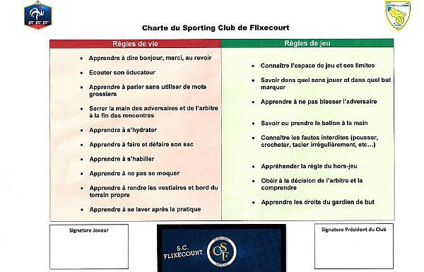 charte fair play ecole de football