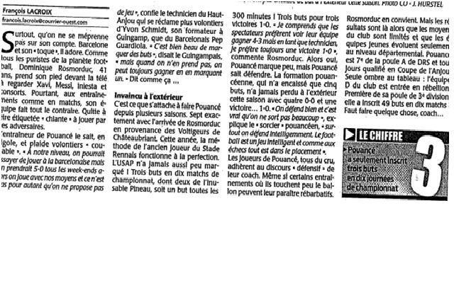 Courrier de l'ouest 22/01/2011