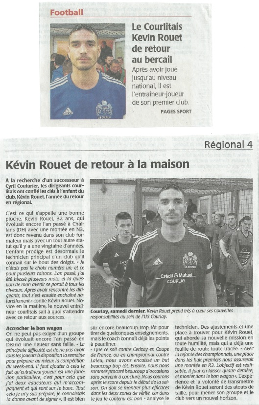 2017_09_20 Article_Courrier_de_l_Ouest - Kevin_retour_US_Courlay