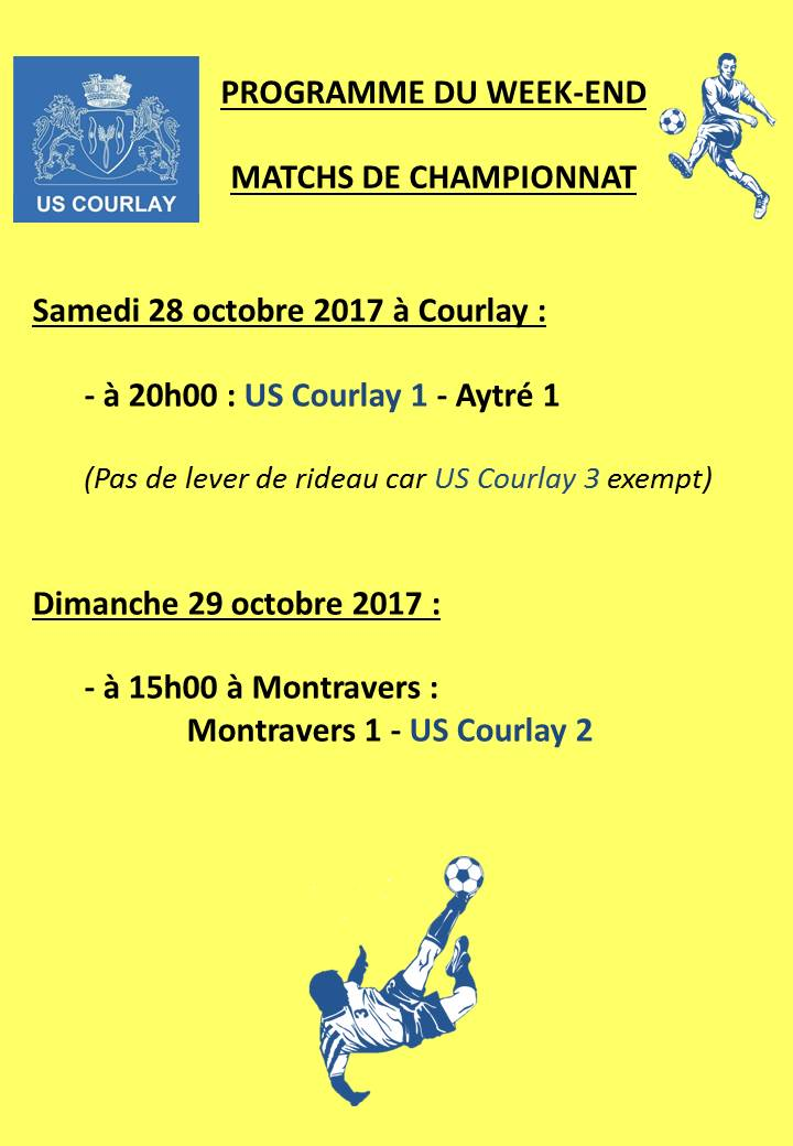 2017_10_25 Matchs_au_programme_du_week_end