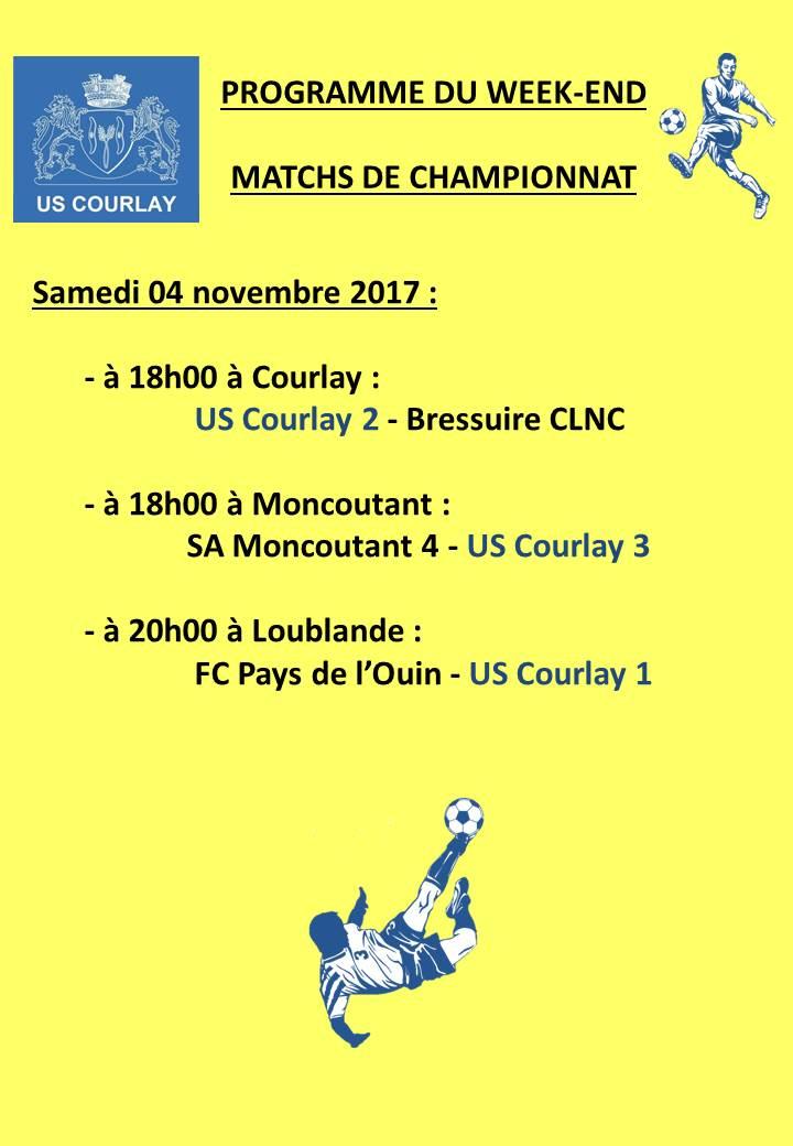 2017_11_02 Matchs_au_programme_du_week_end