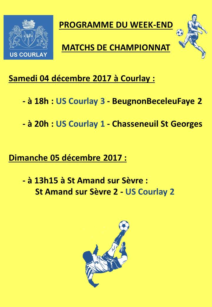 2017_12_07 Matchs_au_programme_du_week_end