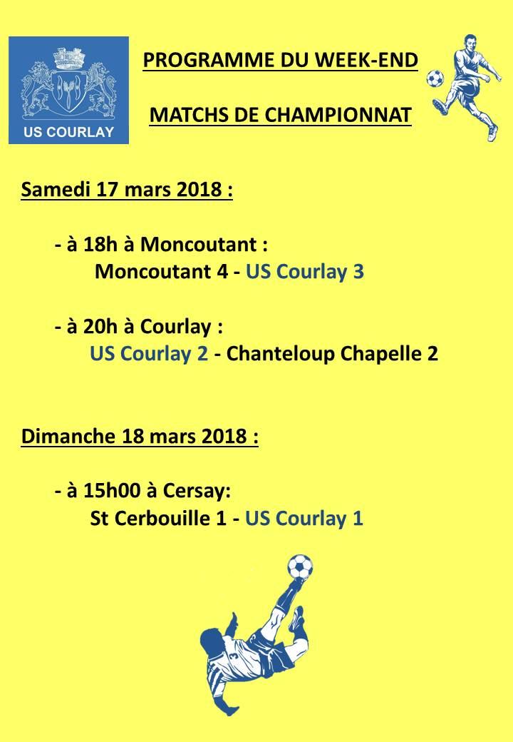 2018_03_15 Matchs_au_programme_du_week_end