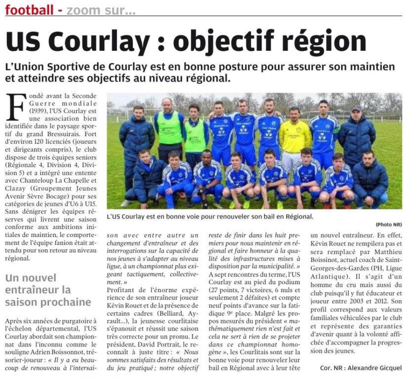 2018_04_04 Article_NR - US_Courlay_Objectif_Region