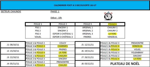 U7 _ Phase 1 _ Saison 2011/2012