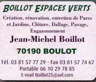 BOILLOT ESPACES VERTS