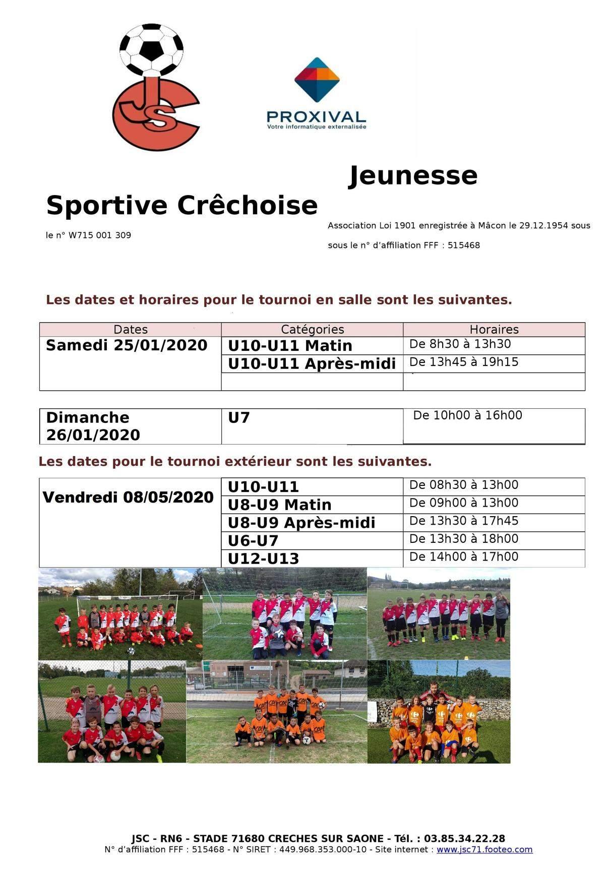 Actualite Tournoi A La Salle Des Sports De Creches Club