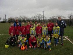 U11. L'équipe 2 en amical contre Lanvéoc. - Association Sportive Pont de Buisienne