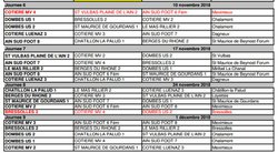 Programme U11 - Novembre - Décembre