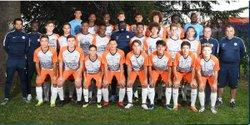 U16 de Montpellier 2018-2019 - Virad Mickaël en haut à droite - Ecole de Foot Saint Gilles