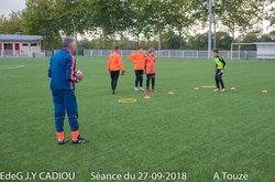 EdeG Séance du 27/09/18 Ateliers - Ecole de gardien de but Jean-Yves Cadiou