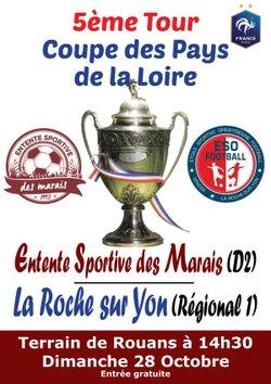 5ème tour de Coupe, Dimanche 28 Octobre, 14h30 - Entente Sportive des Marais