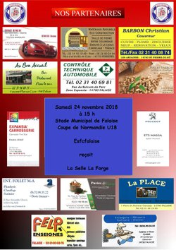 Deux affiches ce week end  ESFCFalaise- Selle la forge et ESFCFalaise - Aunay sur Odon