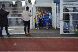 opération main dans la main avec les U7 de Gravenchon et les U7/U9 de l'ESI Saint Antoine lors du match de l'équipe Fanion - ES SAINT-ANTOINE