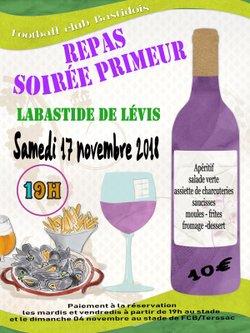 Soirée primeur - FC Labastide de Lévis