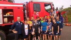 Les U15 en visite chez les pompiers - GJ Pays Glazik