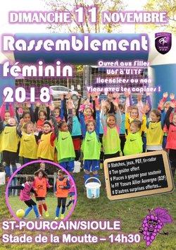 Rassemblement foot féminin 2018