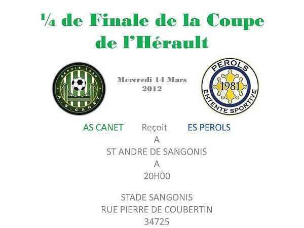 1/4 de Finale de la Coupe de l'Hérault