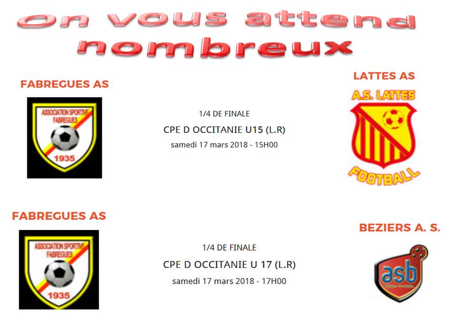1/4 de finale occitanie u15 et u17
