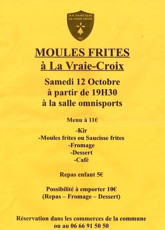 Calendrier Saison Des Moules.Actualite Repas Moules Frites Samedi 12 Octobre Club