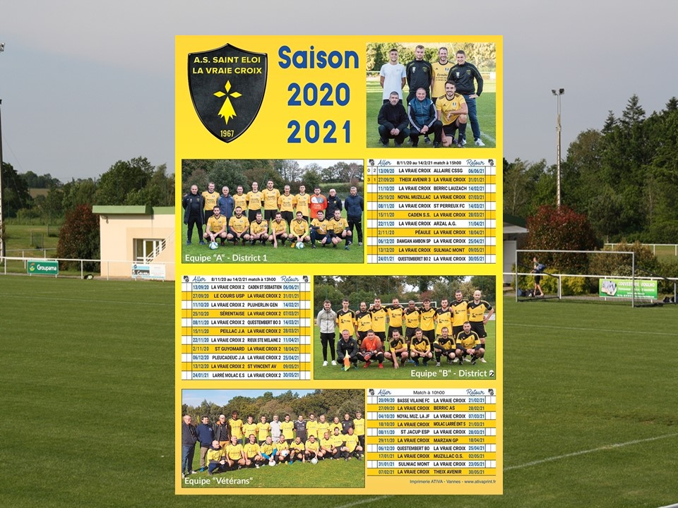 Album   SAISON 2020 2021  CALENDRIER   club Football AS ST ELOI LA