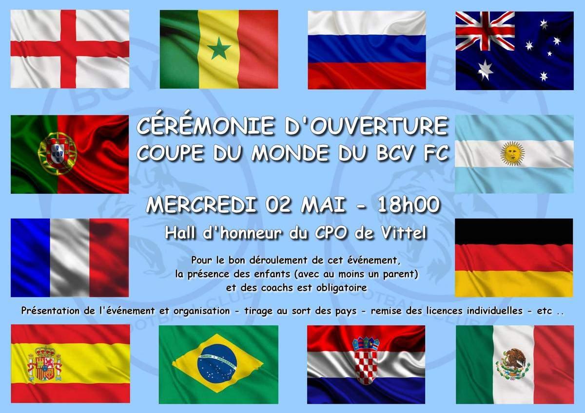 Actualité Inscriptions Mini Coupe Du Monde Du Bcv Fc Club
