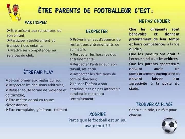 Ethique des parents de footballeur