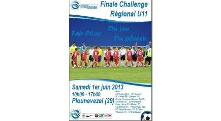 Affiche officielle de la finale régionale du Challenge U11 national du samedi 1er Juin 2013 à Plounévézel