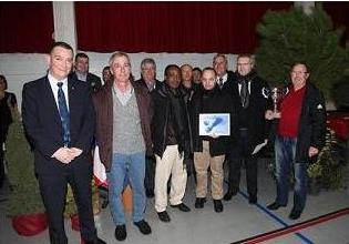 Les représentants du CVL38 lors des voeux du maire de Luzinay