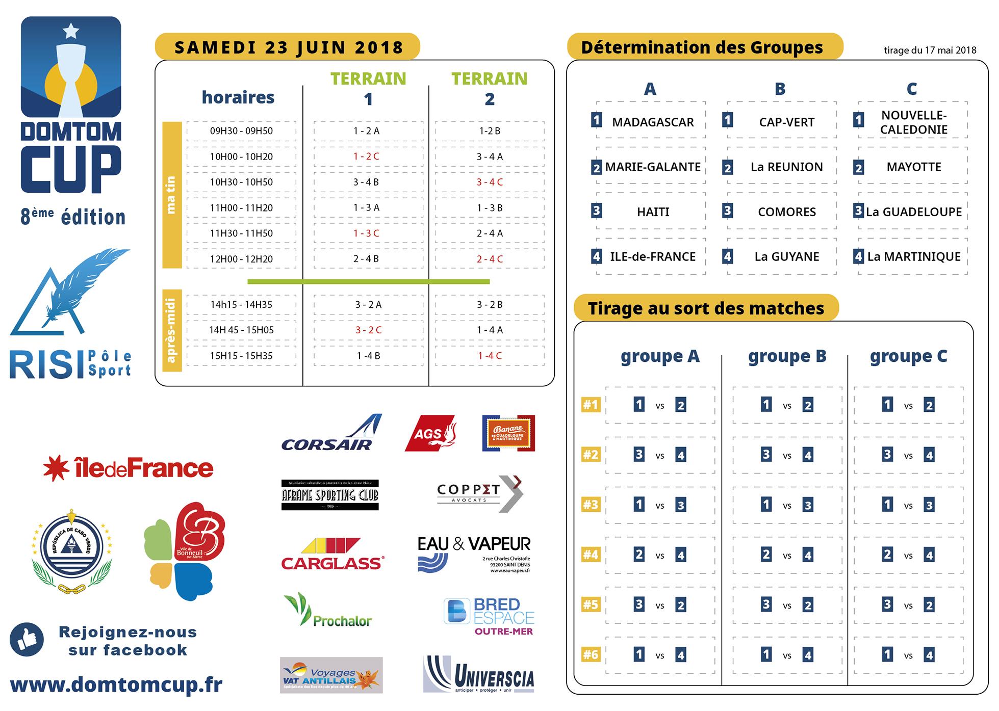DOM TOM CUP - samedi 23 juin 2018