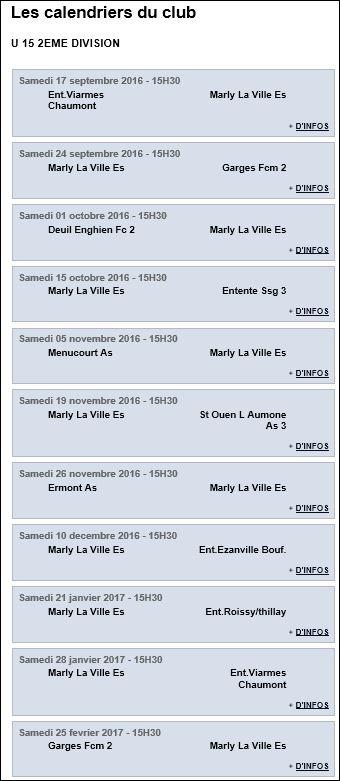 Match Marly 2016 2017