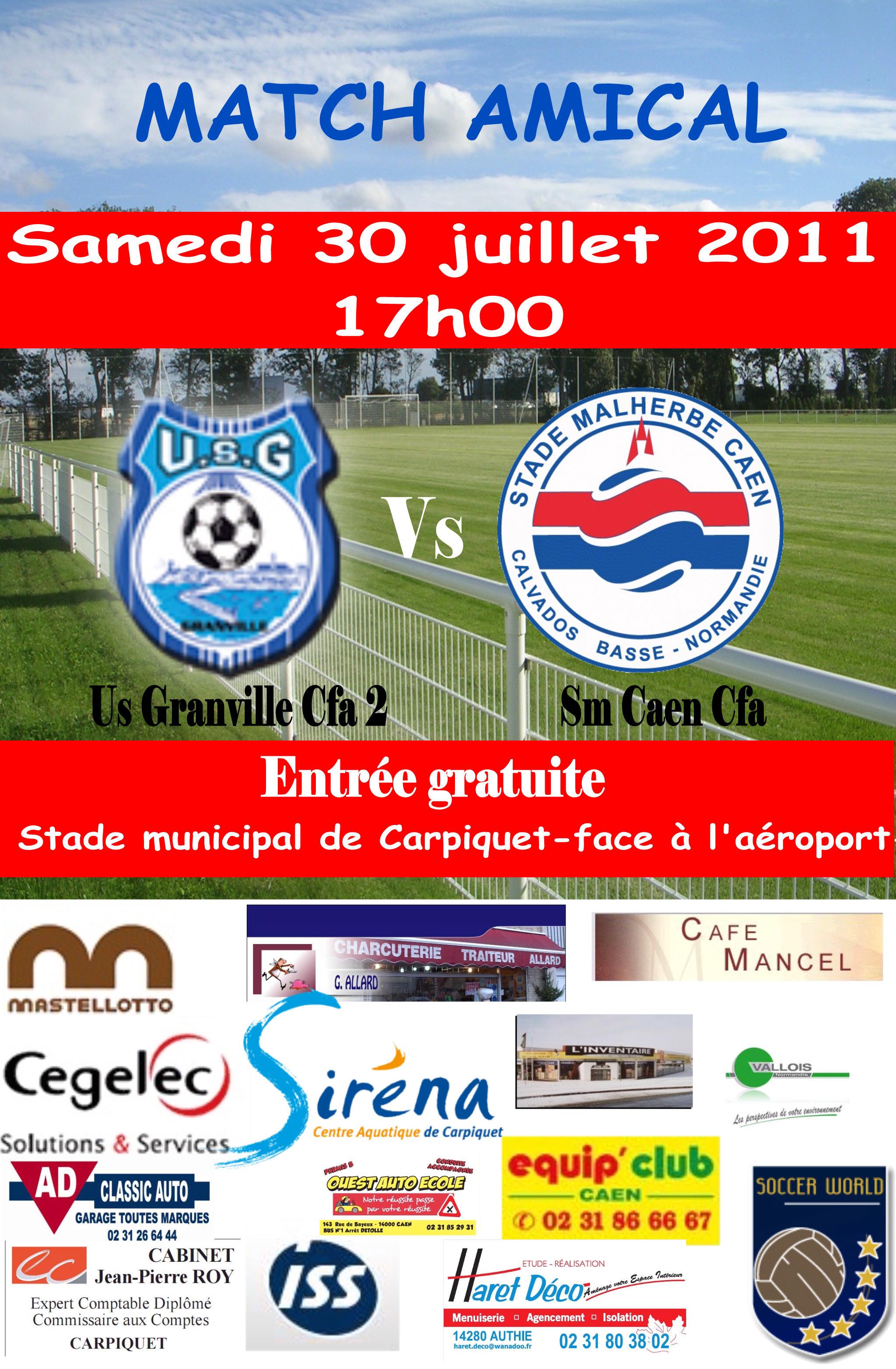 Agenda  Match Amical  club Football
