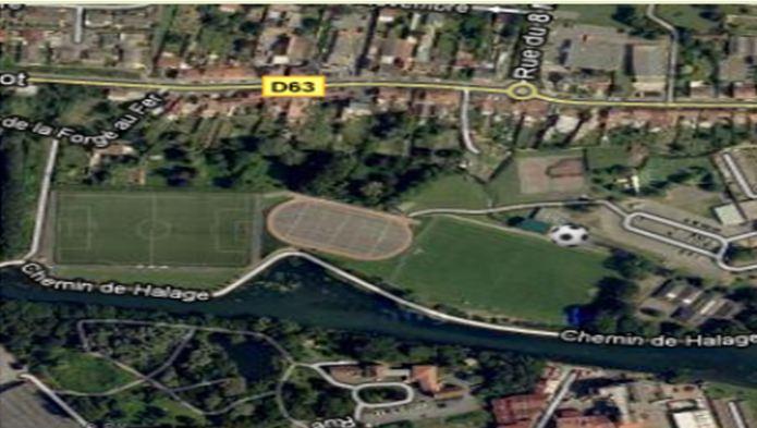 Localisation du stade
