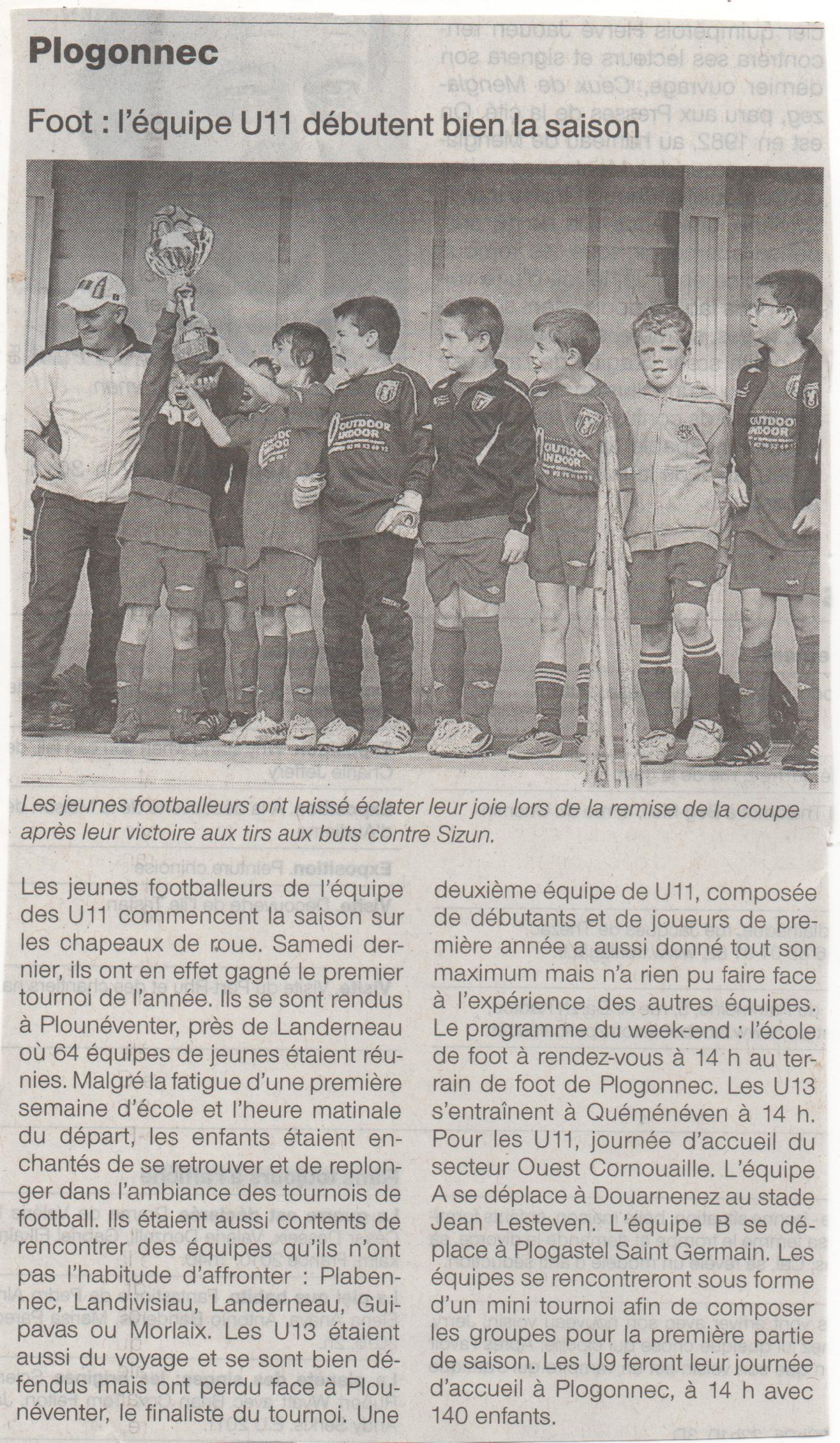 Ouest-France du 15septembre 2011