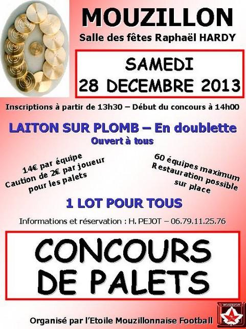 Affiche du concours palets laiton