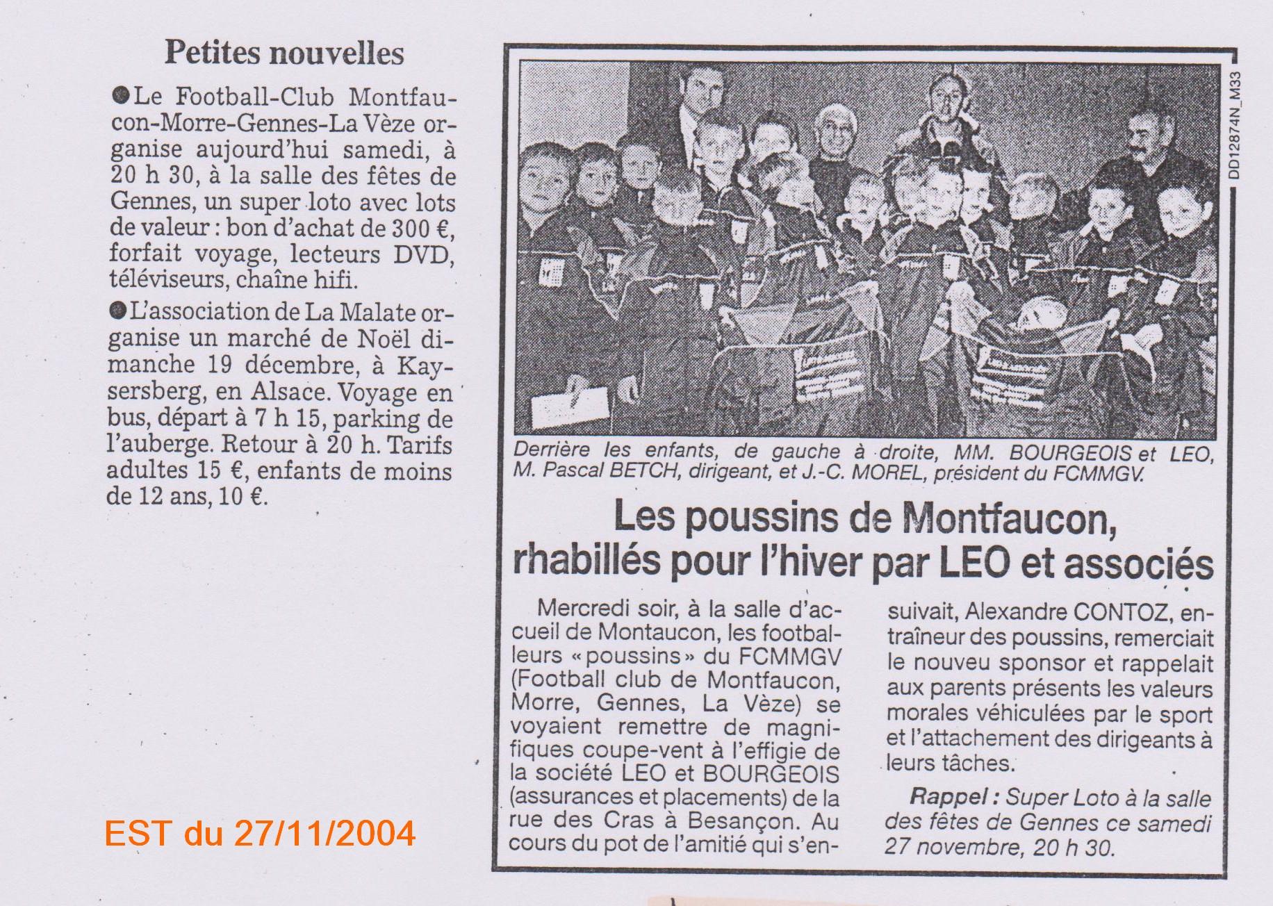 EST du 27/11/2004