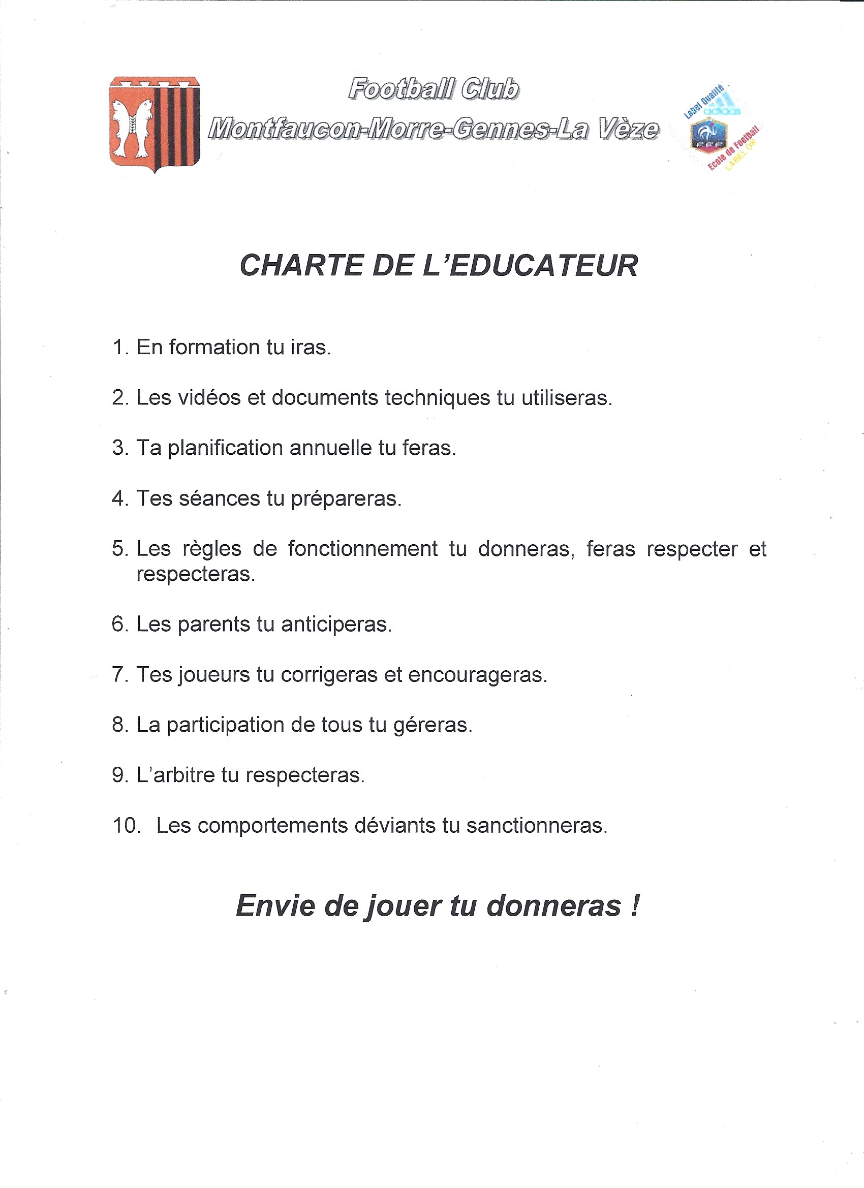 Charte éducateur