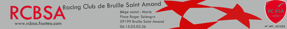 Racing Club de Bruille Saint Amand : site officiel du club de foot de BRUILLE ST AMAND - footeo
