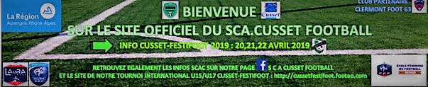 SPORTING CLUB AMICAL CUSSÉTOIS FOOTBALL : site officiel du club de foot de CUSSET - footeo