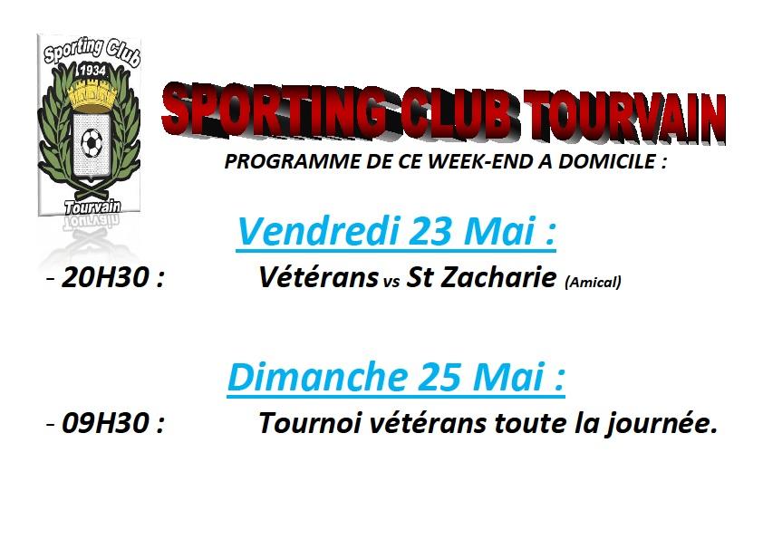Programme week-end du 23 au 25 Mai.