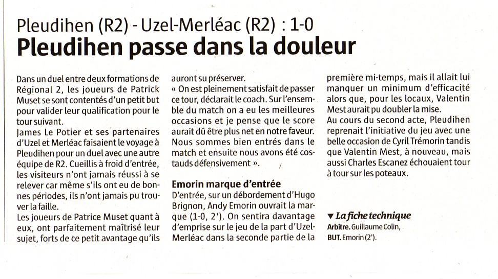 article télégramme coupe de France 4eme tour.jpg