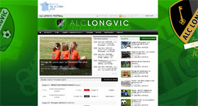 Page d'accueil du site de l'ALC Longvic Football