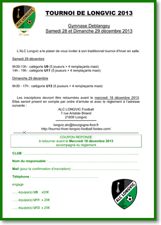 Visuel du Bulletin d'inscription