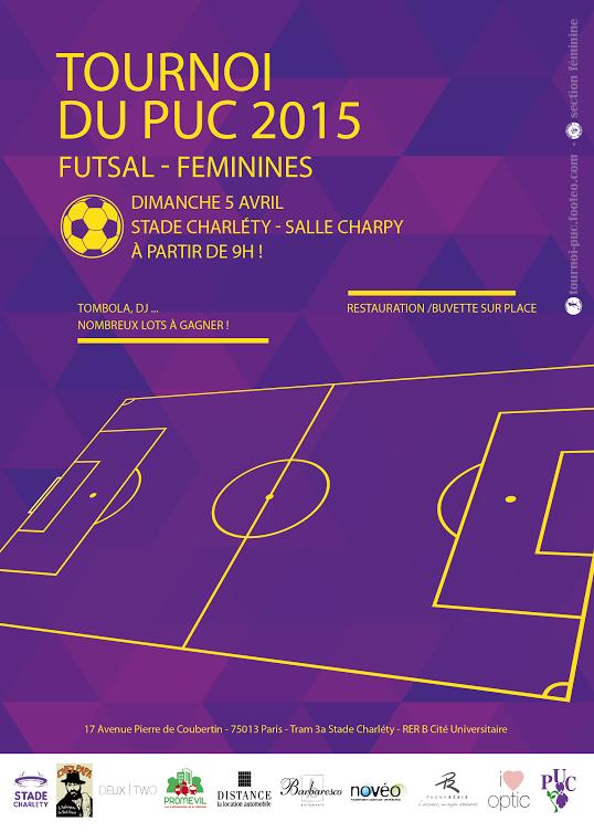Affiche du Tournoi du PUC Edition 2015
