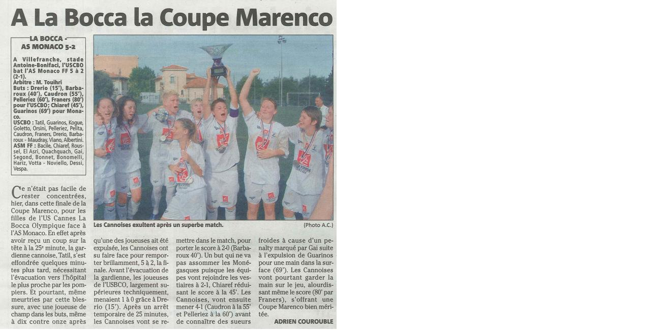 NICE MATIN 23-06-2011 SENIORS F -COUPE MARENCO1