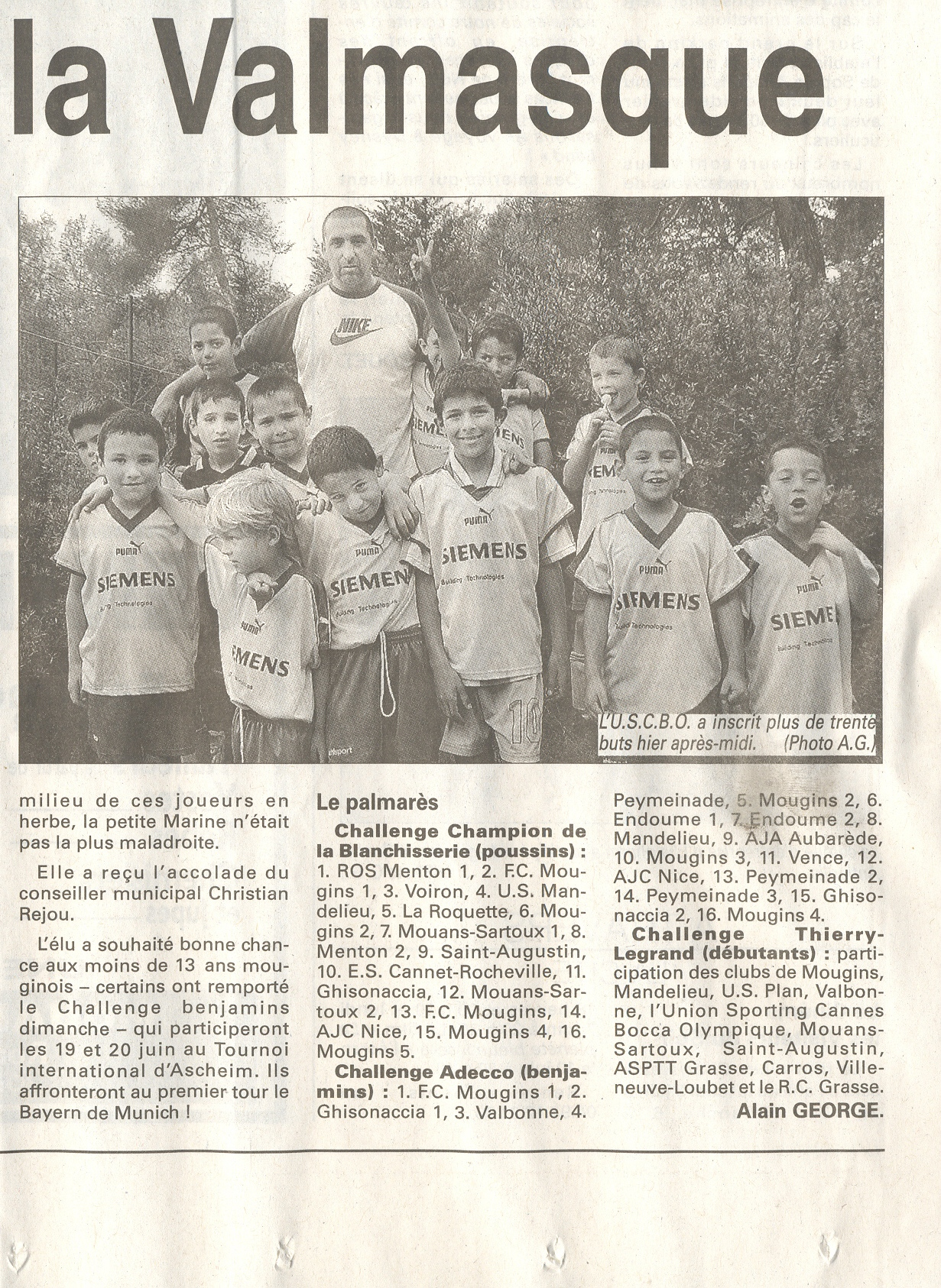NICE MATIN JUIN 2004 PARTICIPATION TOURNOI DE MOUGINS