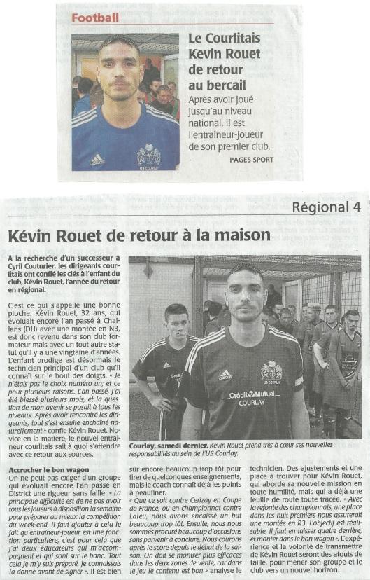 2017_09_20 Article_Courrier_de_l_Ouest - Kevin_retour_US_Courlay