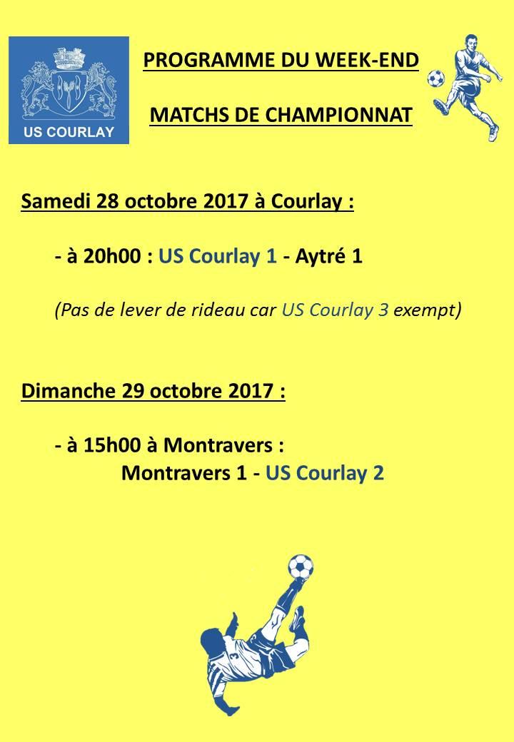 2017_10_25 Matchs_au_programme_du_week_end