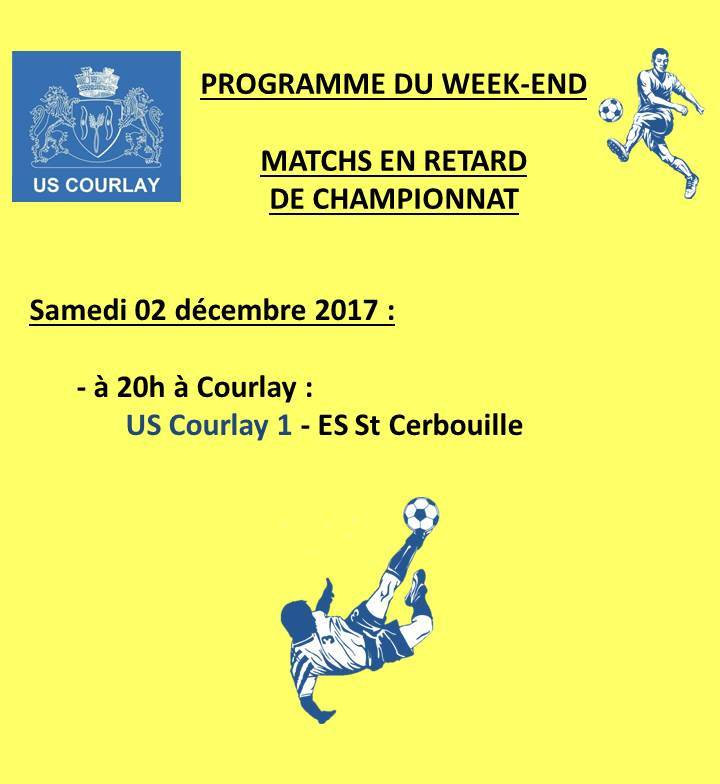 2017_11_30 Matchs_au_programme_du_week_end
